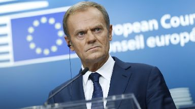 Donald Tusk: The EU council president is unimpressed with the pace of the talks.