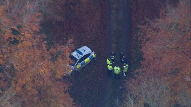Police at the scene near Waddesdon, Buckinghamshire.