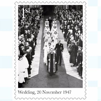 The royal couple got married in Westminster Abbey in 1947.