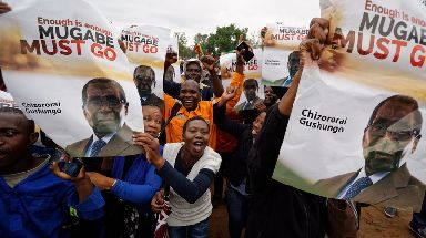 Thousands of Zimbabweans are calling on Robert Mugabe to step down.