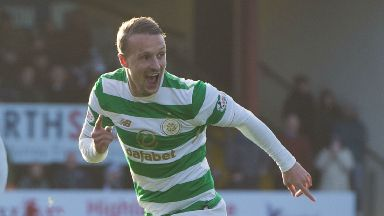 Leigh Griffiths celebrates his winning goal against Ross County.
