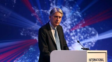 Mr Hammond is hoping to boost Britain's tech sector