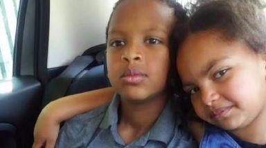Eight-year-old Saros Endris and his six-year-old sister Leanor, were smothered with a petrol-soaked cloth.