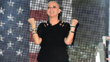Gail Porter was the fourth person to leave.