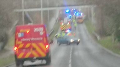Kirkcaldy: The road has been closed by police.