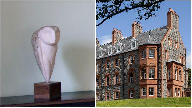 Police: The distinctive owl statue was stolen from Glencoe House.