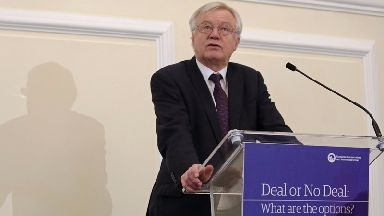 David Davis: The Brexit secretary says a trade deal must now be discussed.