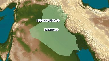 At least 32 people are dead and many other injured after the bombing in north Iraq.