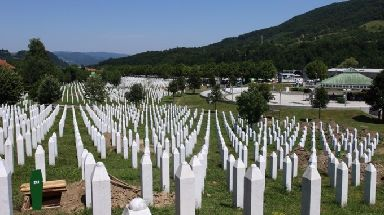The Potocari Memorial Center for victims of the Srebrenica massacre.