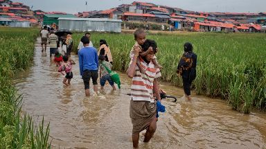 Rohingya refugees fled to Bangladesh in their hundreds of thousands