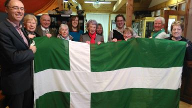 Barra: Residents have flown the flag from buildings for decades.