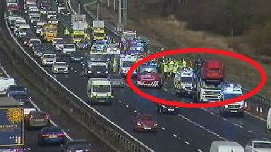 M74: Delays for drivers after crash.