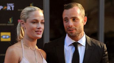 Reeva Steenkamp at an awards ceremony with Pistorius in 2012.