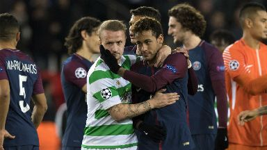 Leigh Griffiths and Neymar at full time.