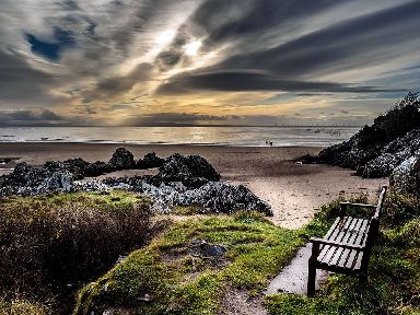 A seat for contemplation in Dumfries and Galloway.