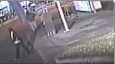 Crime:  The men were also captured on CCTV on the garage forecourt.