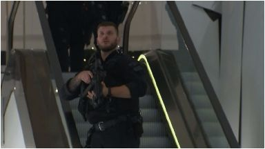 Armed: Police respond to incident.