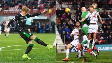 Action: Simon Murray scores (left) as Christophe Berra goes close.