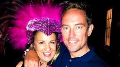 Simon Thomas with his wife Gemma.