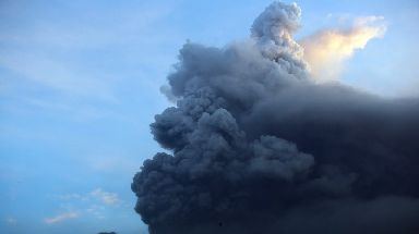 The volcano's eruptions has forced the evacuations of about 25,000 people.