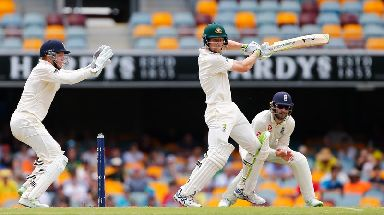 England's Jonny Bairstow and Australia's Cameron Bancroft.