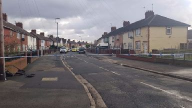 The officer was trying to stop a white Transit van in Norris Green on Saturday when he was hit.
