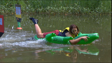 Kezia showed off her swimming and French skills.