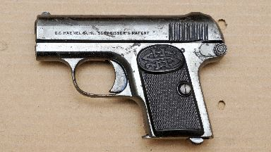 Murder weapon: Gun used to kill Alastair Wilson.