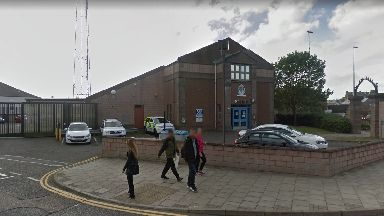 Complaint: The man was at Arbroath police station.