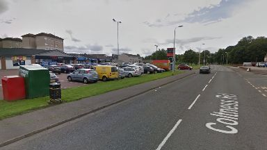 Coltness Road: She was taken to hospital.