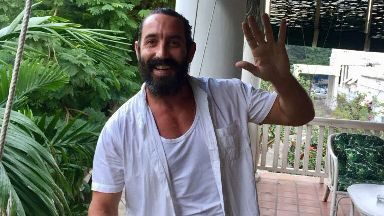 Billy Irving: Scot poses for photo after release from prison.