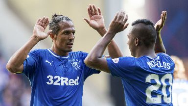 Bruno Alves (left) and Alfredo Morelos were both in Graeme Murty's injury update.