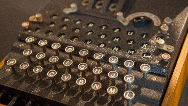 Enigma: Code machine used at Bletchley Park.