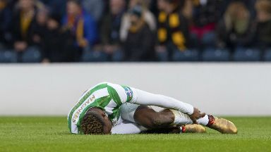Moussa Dembele was caught by Cedric Kipre in the League Cup final.
