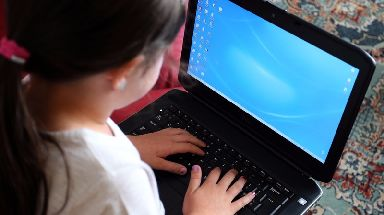 Almost 80% of five to seven-year-olds used the internet in the past year.