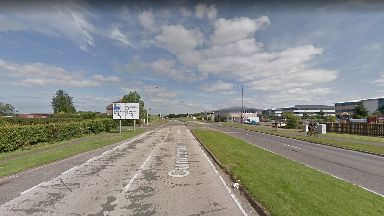 Crash: The incident happened on the A80 at Cumbernauld Road.