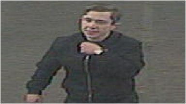 CCTV: Police are looking to trace the man pictured.