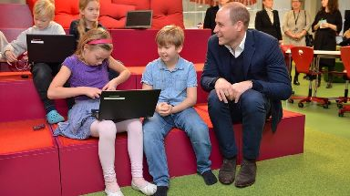 Prince William learnt about the Finnish school system.