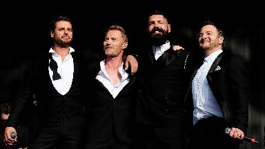 Performer: Boyzone will headline at the festival.