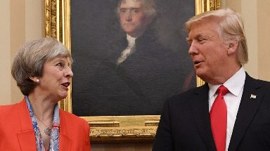 Theresa May and Donald Trump have clashed over the US president's tweets.
