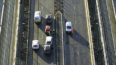 Crash: Cars blocking bridge after collision (file pic).