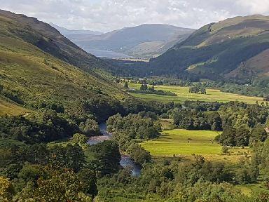 Green hills along the NC500.