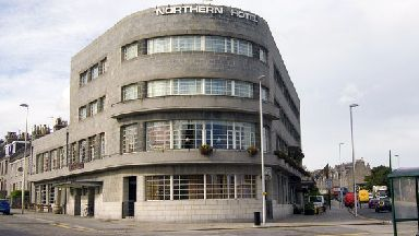 Northern Hotel: Rare Granite Art Deco building.
