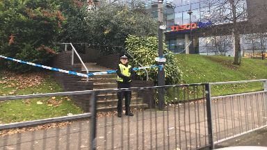 Assault: Path has been cordoned off.