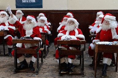 Santa's are also trained at The Ministry of Fun's Santa School in London.