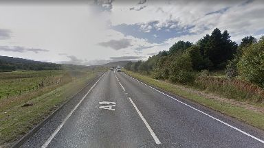 Crash: The incident happened on the A9 near Bruar.