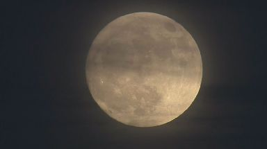 Sunday's full moon will be the first and last supermoon of the year.