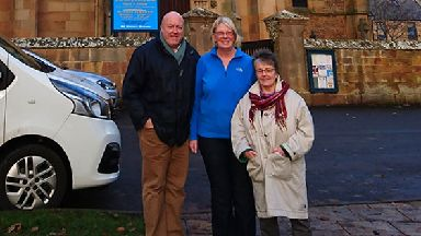 Dornoch Cathedral: Stephen and Jayne Pagan with Rev Susan Brown.
