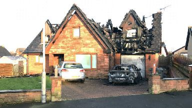 Annan: House destroyed by blaze.