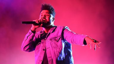 The Weeknd was the third most popular artist on Spotify.